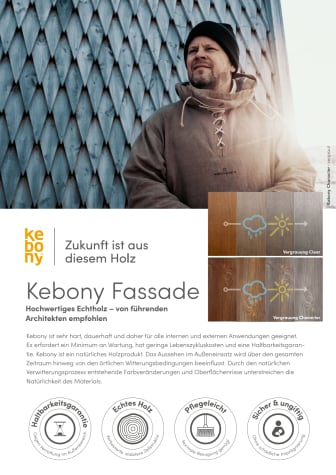 Übersicht Kebony Produkte Fassade 2020