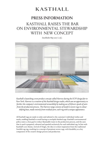 KASTHALL RAISES THE BAR ON ENVIRONMENTAL STEWARDSHIP WITH   NEW CONCEPT