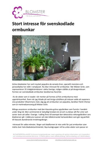 Stort intresse för svenskodlade ormbunkar