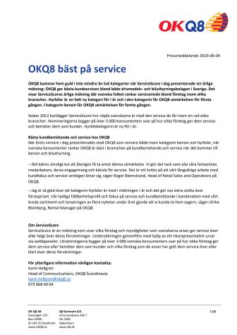 OKQ8 bäst på service