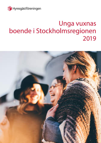 Unga vuxnas boende i Stockholmsregionen 2019