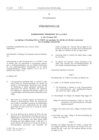EU-förordning nr 61/2011