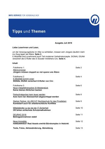 Tipps und Themen 7-2019