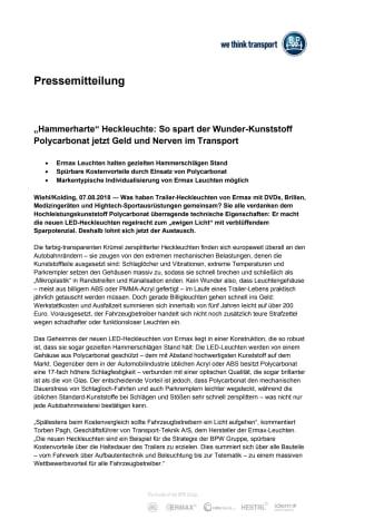 """""""Hammerharte"""" Heckleuchte: So spart der Wunder-Kunststoff Polycarbonat jetzt Geld und Nerven im Transport"""
