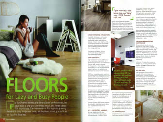 """Evorich Flooring Featured on """"Relaxing @Home"""" Magazine"""