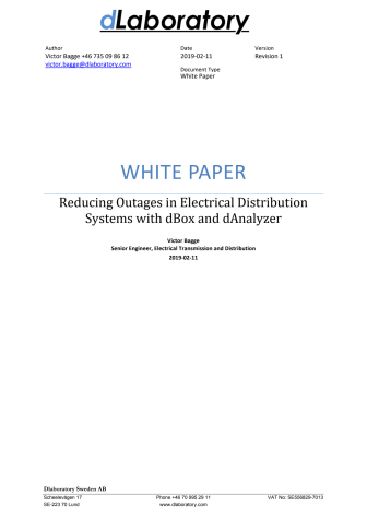 Reducing Outages in Electrical Distribution Systems