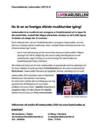Nu är en av Sveriges största musikturnéer igång!