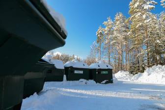 Återvinningsstationer vinter