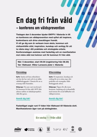 Inbjudan och program En dag fri från våld