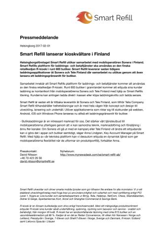 Smart Refill lanserar kioskvältare i Finland