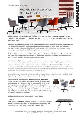 Lammhults fortsätter att satsa på exporten, ställer ut på Workspace Expo i Paris.