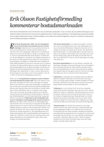 Erik Olsson Fastighetsförmedling kommenterar bostadsmarknaden 24 aug 21.pdf