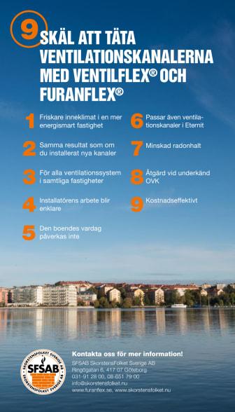 9 skäl att täta ventilationskanalerna med VentilFlex och FuranFlex
