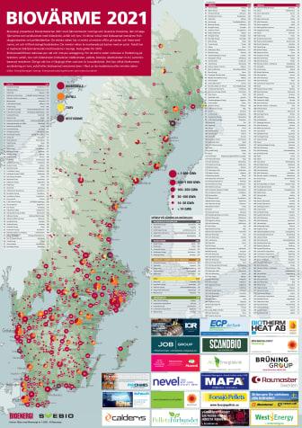 Bioenergis karta: Biovärme 2021