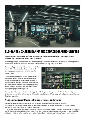 Elgiganten skaber Danmarks største gaming-univers