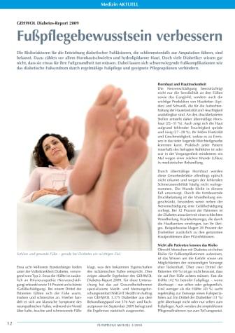 GEHWOL Diabetes-Report: Fußpflegebewusstsein verbessern