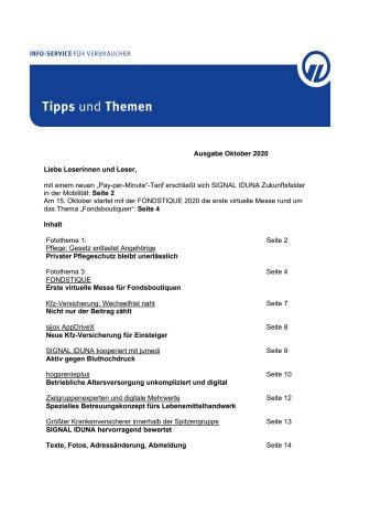 Tipps und Themen 10-2020