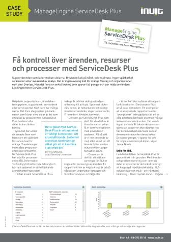 Case Study: Få kontroll över ärenden, resurser och processer med ServiceDesk Plus