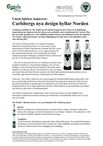 Carlsbergs nya design hyllar Norden