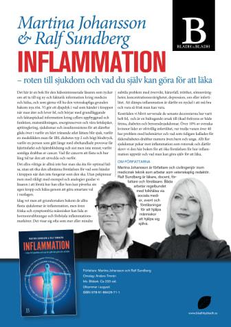 Ny faktarik bok om Inflammation – roten till sjukdom och vad du själv kan göra för att läka av Martina Johansson och Ralf Sundberg