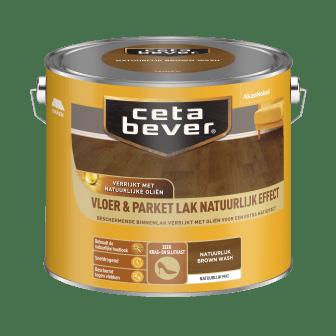 CetaBever Vloer & Parketlak Natuurlijk Brown Wash
