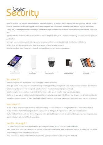 PDF: Gate Security söker säljare