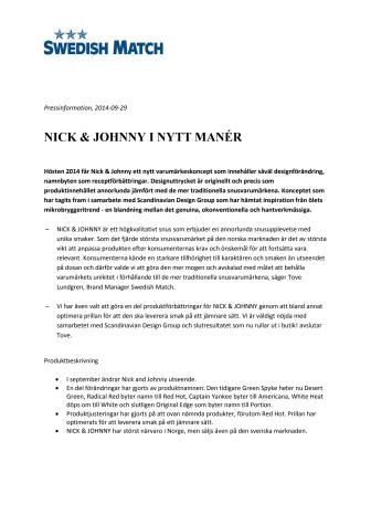 NICK & JOHNNY I NYTT MANÉR