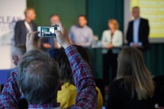 Intresse från publiken när Helsingborg talar på Nordic Clean Energy Week 2018