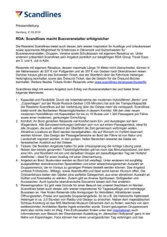 RDA: Scandlines macht Busveranstalter erfolgreicher