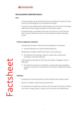 Informationen über das Santander IE Digital DNA Programm