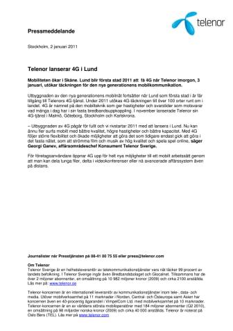 Telenor lanserar 4G i Lund