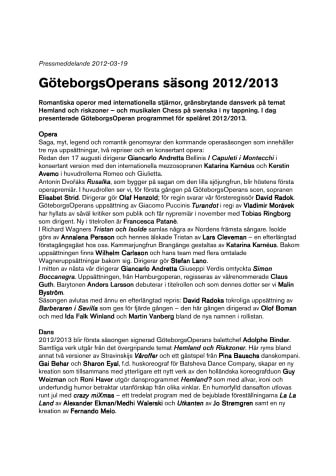 GöteborgsOperans säsong 2012/2013