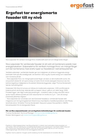 Ergofast tar energismarta fasader till ny nivå