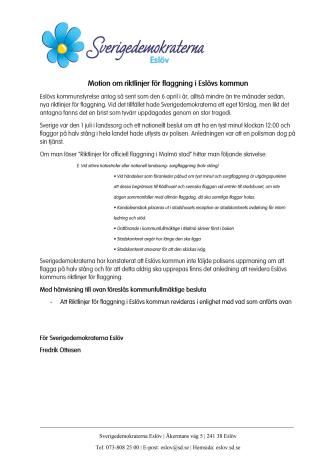 Motion om riktlinjer för flaggning i Eslövs kommun.pdf