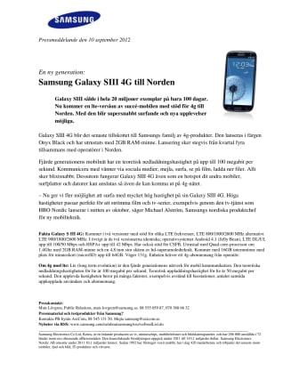 En ny generation: Samsung Galaxy SIII 4G till Norden
