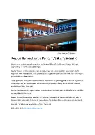 Region Halland valde Peritum/Säker Vårdmiljö