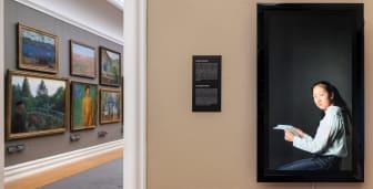 Jeannette Christensen: Woman Interrupted (Meili). Installasjonsfoto fra Rasmus Meyers samlinger.