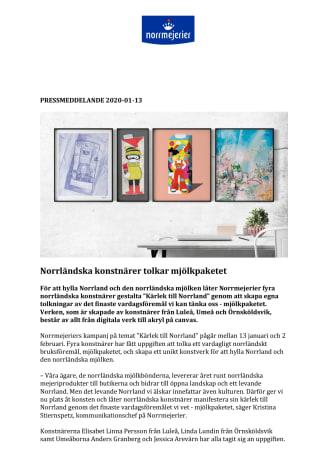Norrländska konstnärer tolkar mjölkpaketet