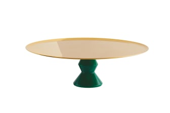 SBT_Madame_Stand_30cm_PVD_Gold_Green_Malachit_Resin