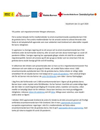 Sverige måste visa solidaritet - öppet brev till Morgan Johansson