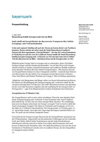 Hauzenberg behält Energiewende fest im Blick