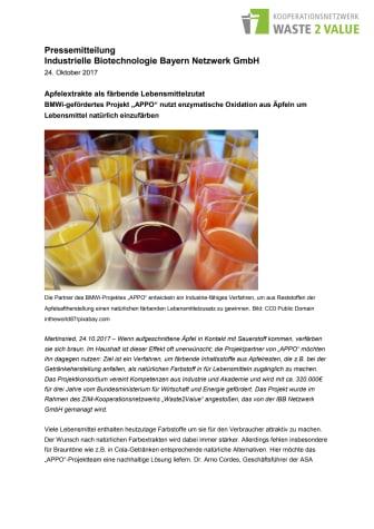 Apfelextrakte als färbende Lebensmittelzutat