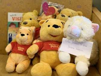 Teddy Bears sent to the Foundation Astrid Lindgren Children's Hospital