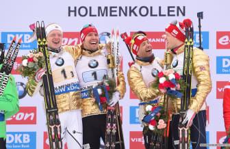 Gullgutta, stafett, VM i Holmenkollen