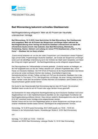 Bad Wünnenberg bekommt schnelles Glasfasernetz