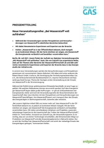 """Neue Veranstaltungsreihe: """"Bei Wasserstoff voll  aufdrehen"""""""