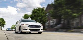 Fords självkörande bil, en Ford Fusion Hybrid.