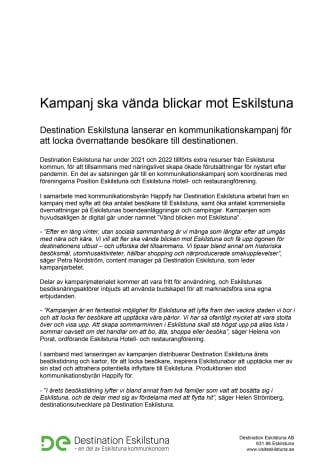 Kampanj ska vända blickar mot Eskilstuna