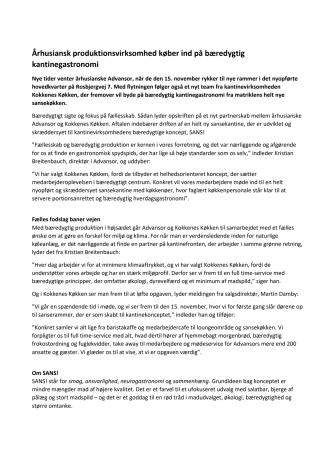 Århusiansk produktionsvirksomhed køber ind på bæredygtig kantinegastronomi