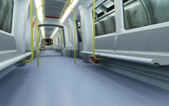 Copenhagen driverless Metro - interiors